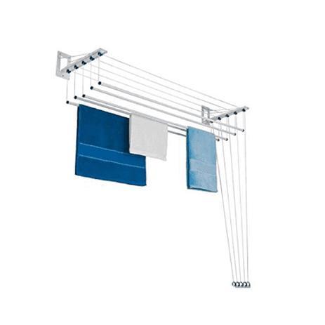 Imagem de Varal Parede ou Teto Maxeb em Alumínio Individual 120 x 38 cm