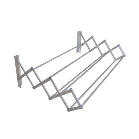 Varal sanfonado 80 x 19 x 45 cm em alumínio - Botafogo - Varal e ... f586134134c56