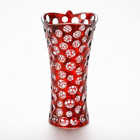 Imagem de Vaso 35cm De Vidro Red Points Prestige - R3678