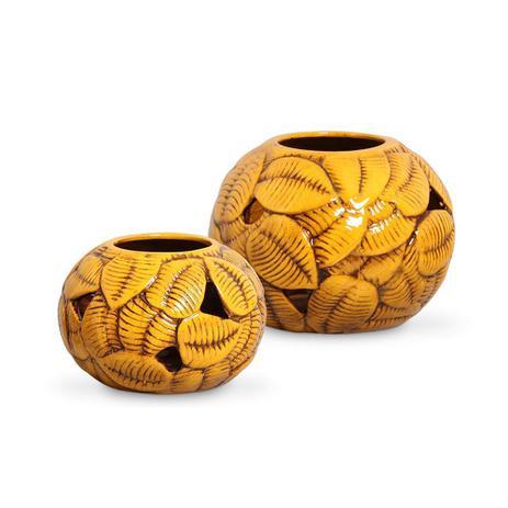 Imagem de Vaso Decorativo em Cerâmica Objeto Decoração Enfeite Sala