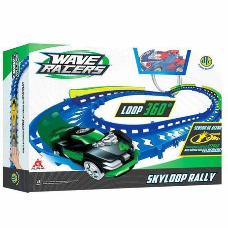 Imagem de Veículo e Pista Wave Racers Skyloop Rally - DTC 4710 tipo hot wheels
