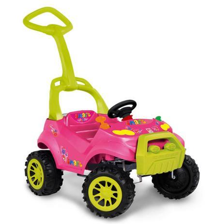 Imagem de Veiculo Para Bebe Smart Car Passeios e Pedal Bandeirante - Rosa - Ref 462