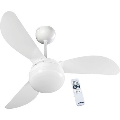 2c52004ad Ventilador de Teto 3 Pás Ventisol Fênix Globo com Controle Remoto e 3  Velocidades Branco