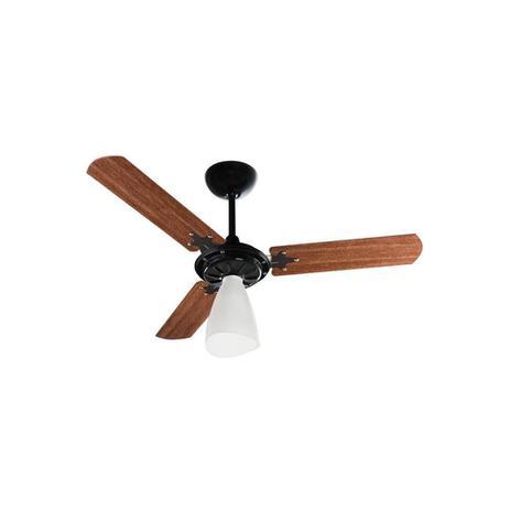 Imagem de Ventilador de Teto com Luminária 130w 110v Wind Light com 3 Pás Preto E Mogno