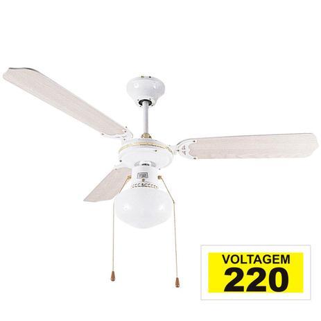 59c361e94 Ventilador de teto hl-17 1 globo e-27 3 pas reversiveis branco 220v - Home  line