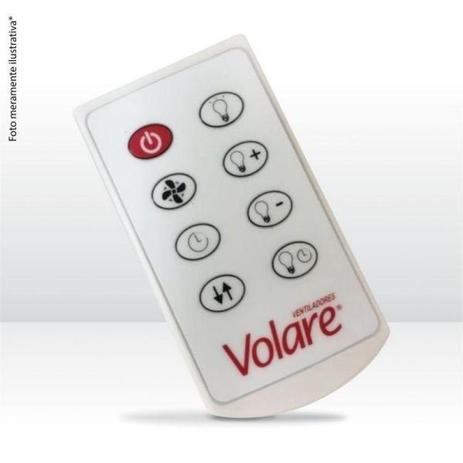 fa45f95c9 Ventilador de Teto Platinum Mini Branco c  Controle 220V - Volare