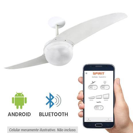 19b77f206 Ventilador de Teto Spirit 202 Branco Bluetooth Controlado por Aplicativo