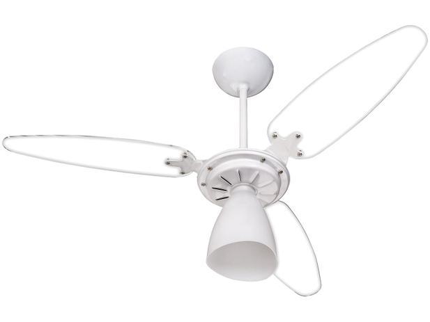 3ef75374e Ventilador de Teto Ventisol Premium Wind Light - 3 Pás Branco e  Transparente para 1 Lâmpada