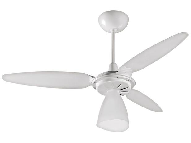 a099a5864 Ventilador de Teto Ventisol Wind Light 3 Pás - Branco para 1 Lâmpada ...