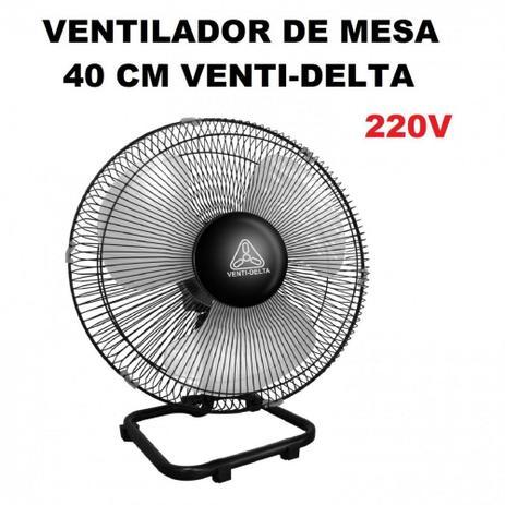 90b63090e Ventilador Oscilante de Mesa 40cm Grade de Aco 220v Preto Venti-delta