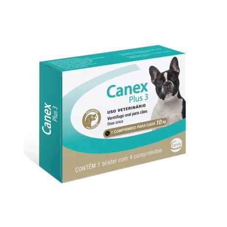 Imagem de Vermífugo Canex Plus Cães 10Kg 4 Comprimidos