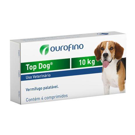 Imagem de Vermífugo Ouro Fino Top Dog Para Cães Até 10kg - 4 Comp.