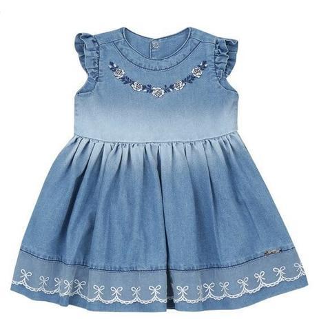 Vestido Bebê Azul Jeans Paraíso Paraiso