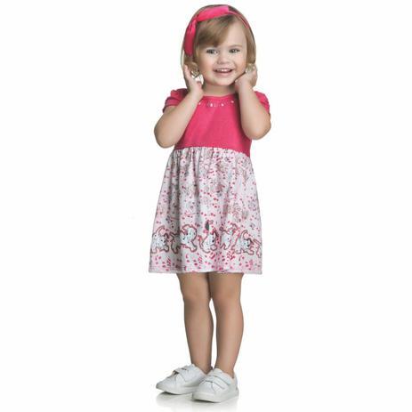cf019a769 Vestido Bebê Disney 101 Dálmatas - Romitex - Vestido para Bebê ...
