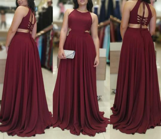 17b3b4ee54 Vestido de Madrinha Longo Marsala Festa Casamento - Elegance ...