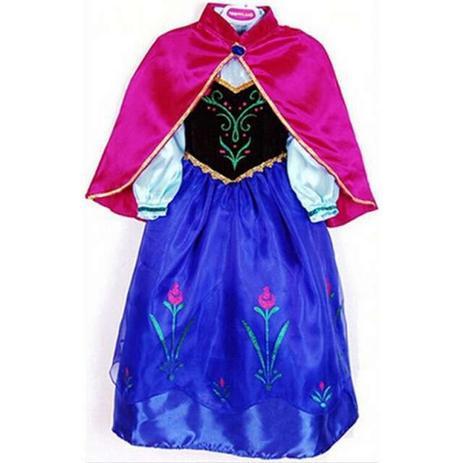 Menor Preço Em Vestido Fantasia Infantil Princesa Anna Frozen