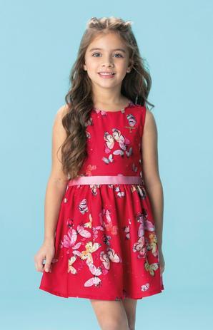 4c9f98b2b8 Vestido Infanti com Strass na Cor Vermelha - Carinhoso - Vestido ...