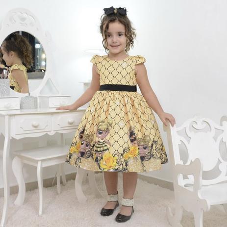 Vestido Infantil Boneca Lol Queen Bee Abelhinha Moderna Meninas Fantasia Magazine Luiza