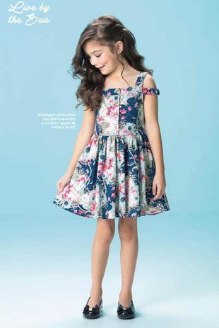 5b951369f7 Vestido Infantil Floral - Carinhoso - Vestido Infantil - Magazine Luiza