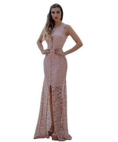 0adfbf6f55e0 Vestido Longo Chiq Fenda Formatura Casamento Madrinha Rose - Menina veneno  vestidos panicat