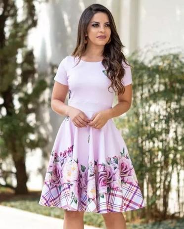 33dd2b1070 Vestido Midi Daniela Vinho Moda Evangélica - Flor de amêndoa ...