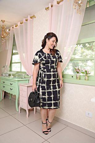 Imagem de Vestido Moda Evangélica Plus Size Crepe Kauly 2628