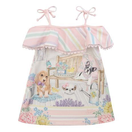 e9818b6c2 Vestido Petit Cherie com Alças Estampa Dogs - Vestido para Meninas ...