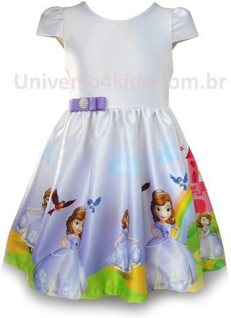 Vestido Princesa Sofia Infantil Universo 4 Kids