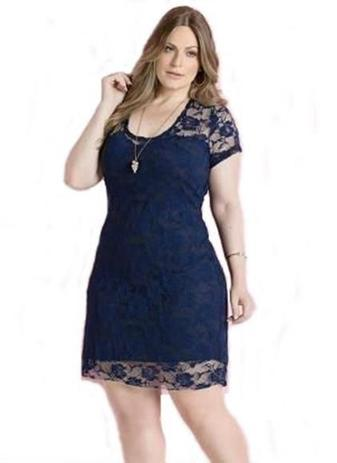 b7d683241860 Vestido Renda Plus Size Festa Madrinha Formatura Batizado - Shoopweb ...