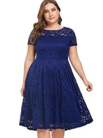 Imagem de Vestido Renda Plus Size Madrinha Noite