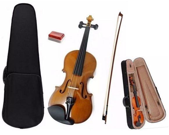 Imagem de Violino Estudante 3/4 Dominante Com Case Estojo Arco Breu