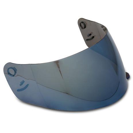 Imagem de Viseira Capacete EBF E0X New Spark 2.2mm Azul Proteção Raios UV Policarbonato Antirrisco Iridium