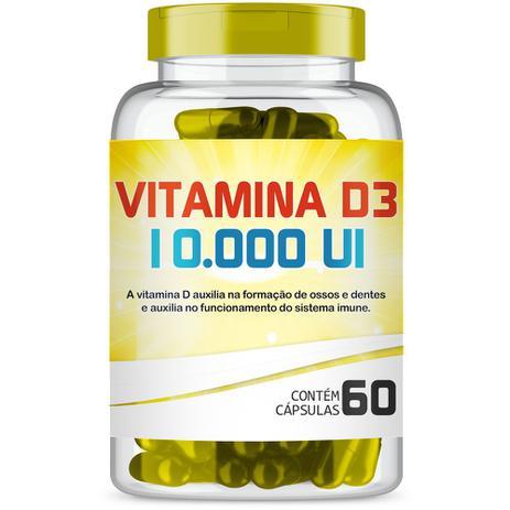 Imagem de Vitamina D3 10.000 UI com 60 Cápsulas