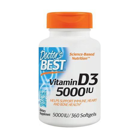 Imagem de Vitamina D3 5000 Ui Doctor's Best - 360 Cápsulas