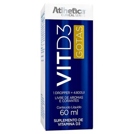 Imagem de Vitamina D3 60ml - Atlhetica Nutrition