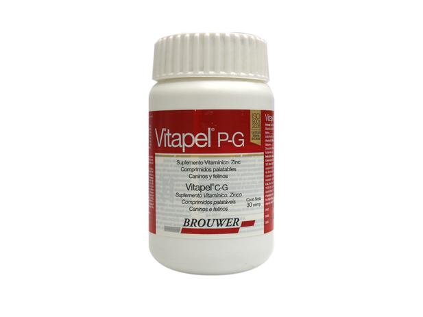 Imagem de Vitapel P-G suplemento cães e gatos 30 comprimidos