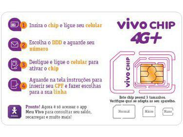 Imagem de Vivo Chip Triplo Corte 4G