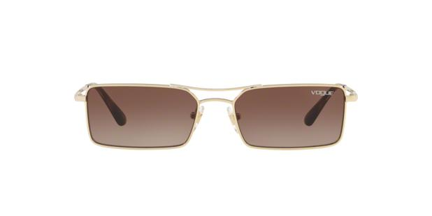 d1bf19346d07b Vogue VO4106S 848 13 Ouro Lente Marrom Degradê Tam 55 - Óculos de ...