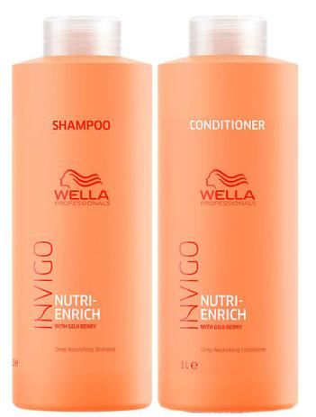 Imagem de Wella Invigo Nutri Enrich Shampoo (1000ml) e Condicionador (1000ml)
