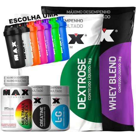 45a5fbcd9 Whey Blend 2kg + Dextrose + Glutamina Creatina Multimax Coq - Max titanium