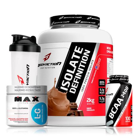 543085d9a Whey Isolado Isolate Definition 2kg + Bcaa + Glutamina - Body action ...