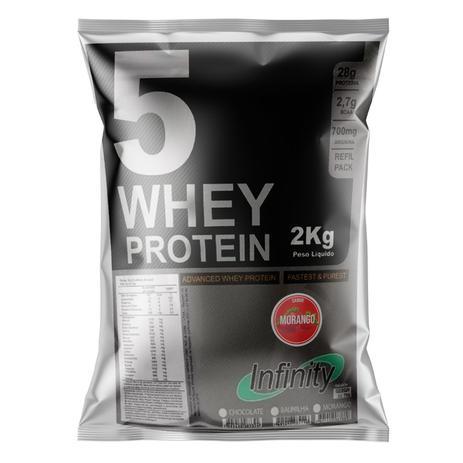 Imagem de whey protein concentrado isolado hidrolisado 3w 2kg Infinity - Morango