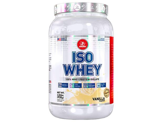 Imagem de Whey Protein Isolado Iso Whey Usa Vanilla 930g - Midway