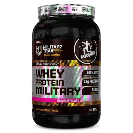 Imagem de Whey protein military 900 g - midway (strawberry)