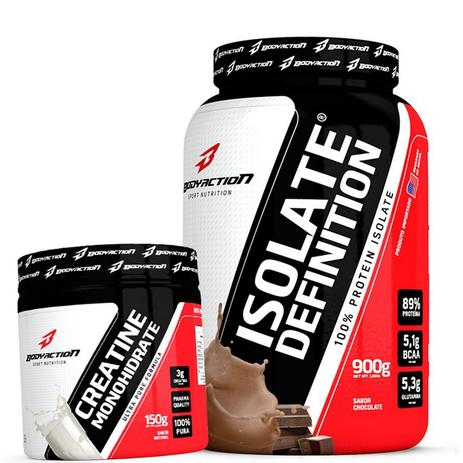 Imagem de WHEY/WEY PROTEIN ISOLADO + CREATINA 150G - BODY ACTION. - Chocolate