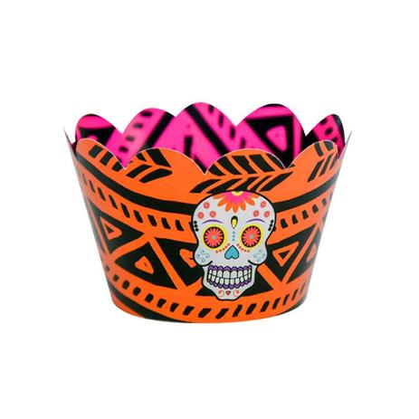 Wrapper para Cupcake Caveira Mexicana 12 unidades Duster - Festabox ... f844285a68a