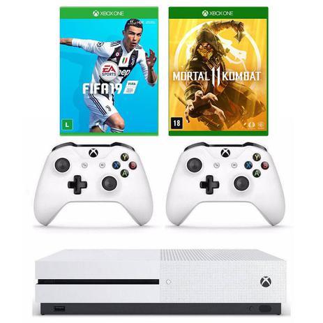 Xbox One - 1 Terabyte + HDR + 4K Streaming + 2 controles e 2 Jogos - Pronta entrega