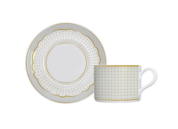 Imagem de Xícara Chá Porcelana com Pires 170 ml Royal Off-White Germer - GMR 146