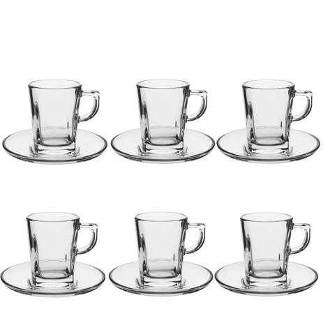 c348596e89b5e Xícara de café de vidro Carre Pasabahce 6 peças 60mL - 13341 ...