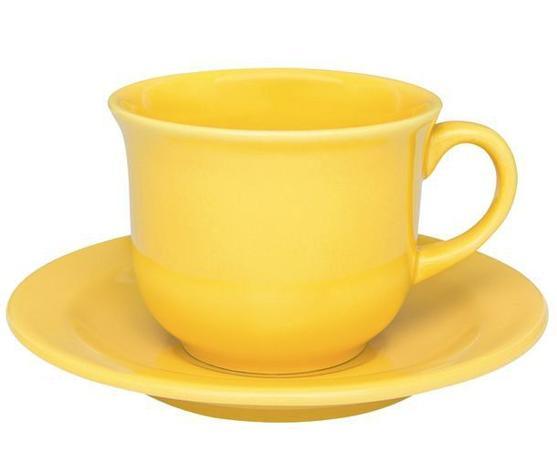 Imagem de Xícara de Chá 200ml Com Pires 15cm Daily Floreal Yellow Oxford
